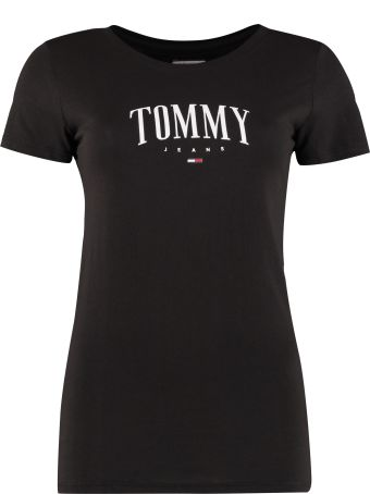 Tommy Jeans Logo Print Cotton T-shirt