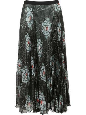 Dries Van Noten Pleated Floral Skirt