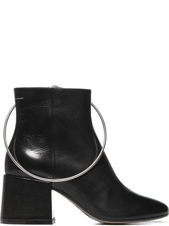 MM6 Maison Margiela Metal Rim Slider Ankle Boots
