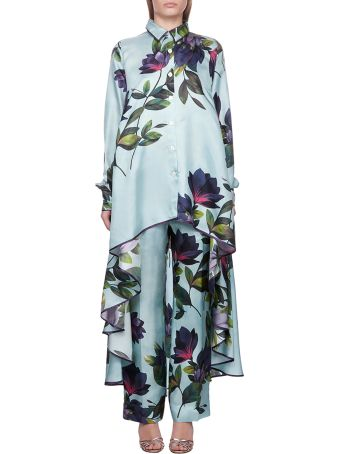For Restless Sleepers Floral Asymmetric Shirt