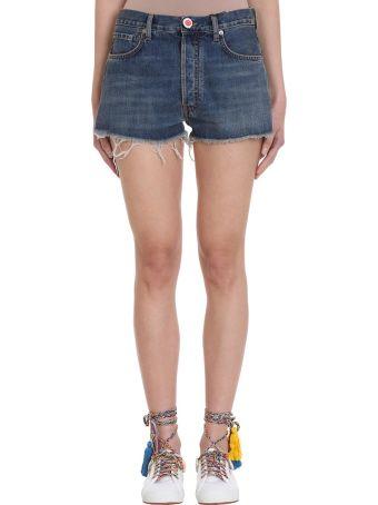 Alanui Crochet Pocket Denim Shorts