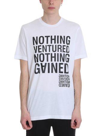 BLACKBARRETT by Neil Barrett Nothing Ventured White Cotton T-shirt