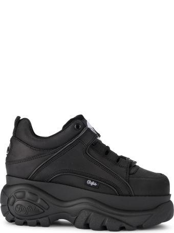 Buffalo 1339 Black Leather Sneaker