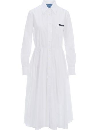 Prada Pleated Shirt Style Dress