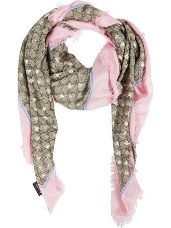 Gucci Gg Bees Motif Scarf