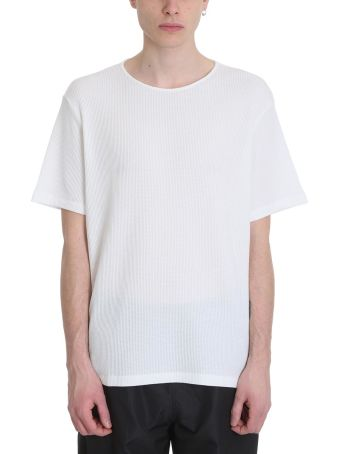 Our Legacy Ivory White Honeycomb Cotton T-shirt