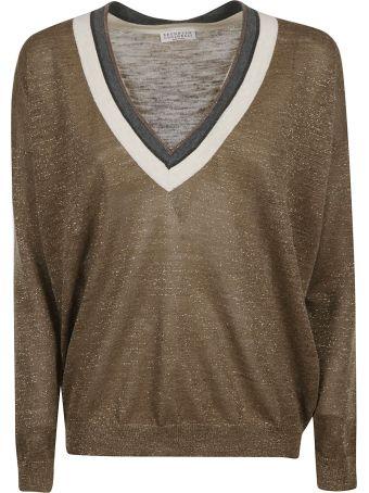 Brunello Cucinelli Glittery Knitted Top