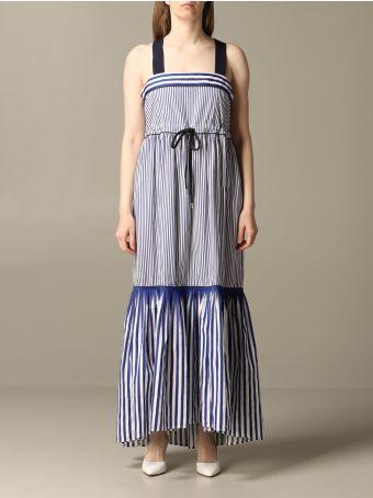 Hilfiger Denim Hilfiger Collection Dress Hilfiger Collection Striped Dress With Drawstring