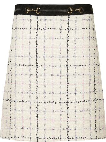 Gucci Checked Pattern Skirt