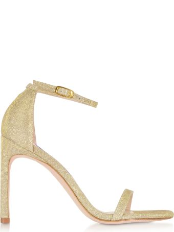 Stuart Weitzman Platino Nighttime Nudistsong High Heel Sandals