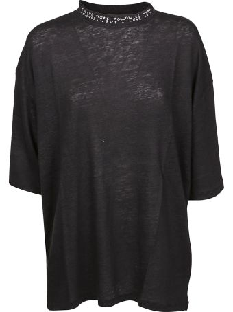 IRO Embroidered Neck T-shirt