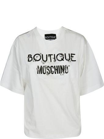 Boutique Moschino Pierced Logo T-shirt
