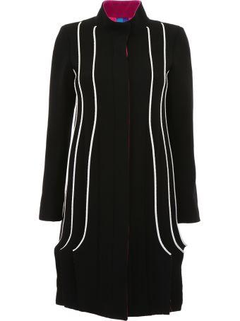 Capucci Tricolor Plissé Coat