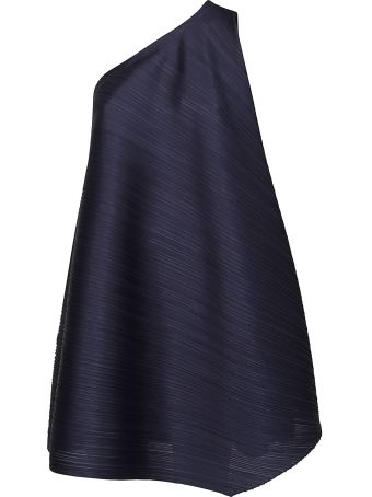 Issey Miyake Micro-pleated Asymmetric Top