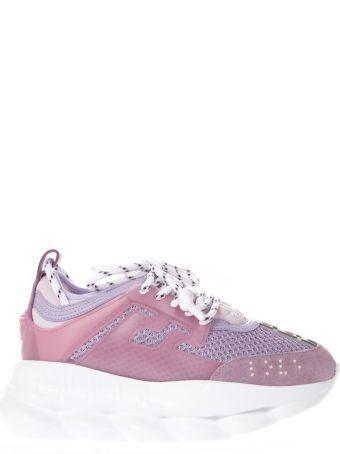 Versace Versace Pink High Sneakers