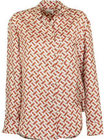 Burberry Godwit Monogram Tb Silk Blouse