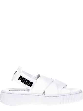 Puma Select White Elastic Straps Sandals