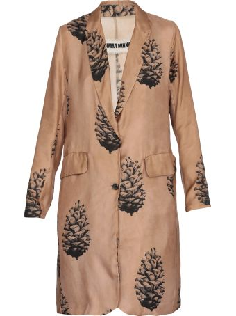 Uma Wang Overcoat Blend Cotton