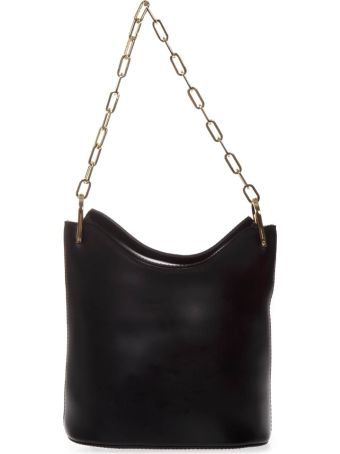 Gianni Chiarini Black Leather Buckett Bag