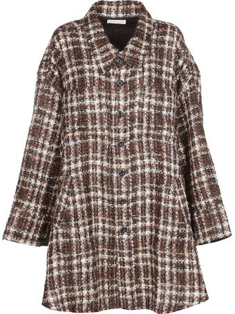 Faith Connexion Irregular Hem Tweed Coat
