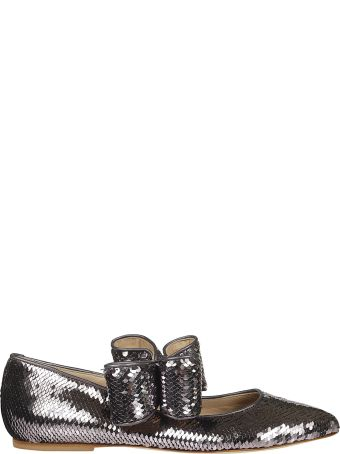 Polly Plume Sequined Ballerinas