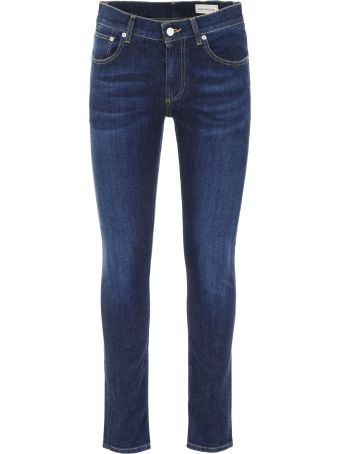 Alexander McQueen Jeans With Logo Embroidery