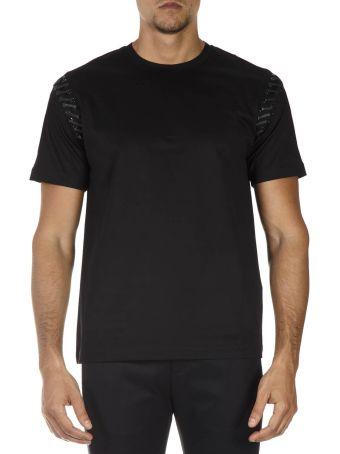 Les Hommes Black Cotton T-shirt