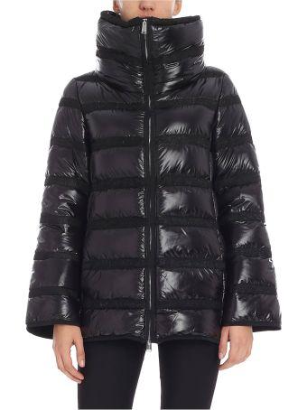 Add Cowl Collar Padded Jacket