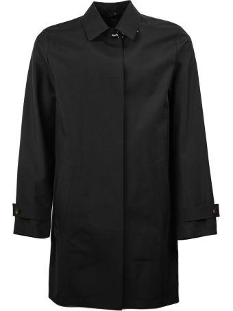 Fay Black High Tech Trench Coat