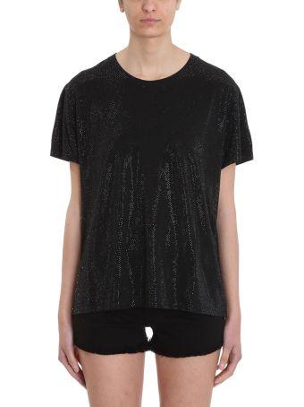 Alexandre Vauthier Black Crystalized T-shirt