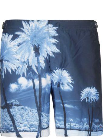 Orlebar Brown Blue Palms Print Shorts