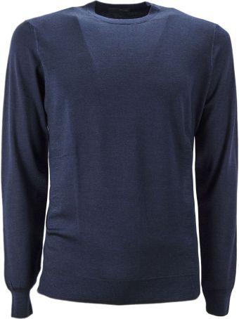 Drumohr Blue Merino Wool Pullover