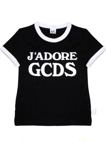 "GCDS Mini T-shirt Black ""j'adore Gcds"""