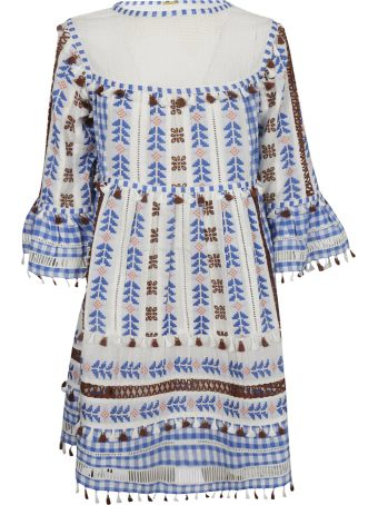 Dodo Bar Or Embroidered Tassel Mini Dress