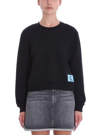 Calvin Klein Jeans Black Cotton Sweatshirt