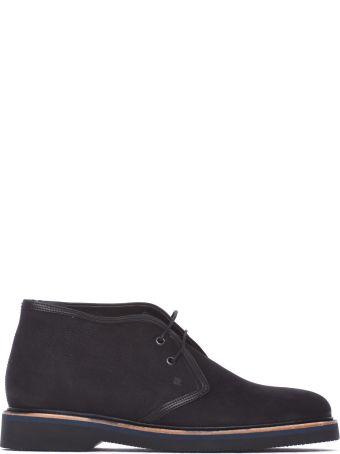 Fratelli Rossetti One Desert Boots In Black Nabuk Leather