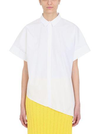 Jil Sander Asymmetric White Cotton Shirt