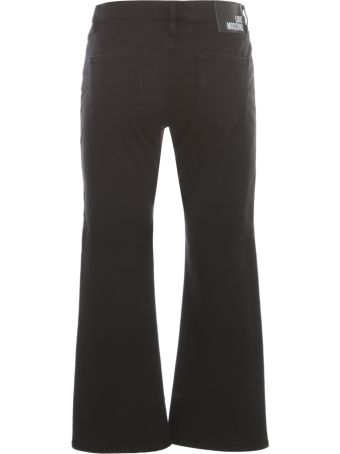 Love Moschino Cotton Short Flared Jeans