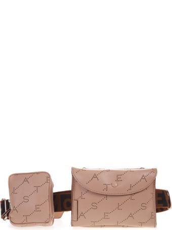 Stella McCartney Powder Eco Leather Belt Bag With Logo