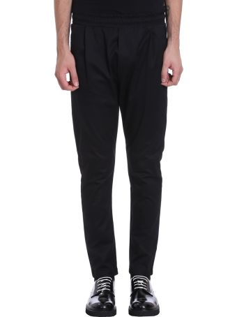 Low Brand Black Cotton Pants