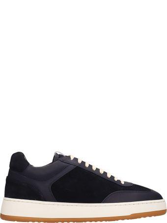 Etq Blue Suede Low 5 Sneakers