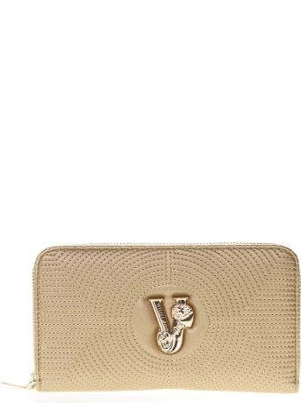 Versace Gold Faux Leather Wallet