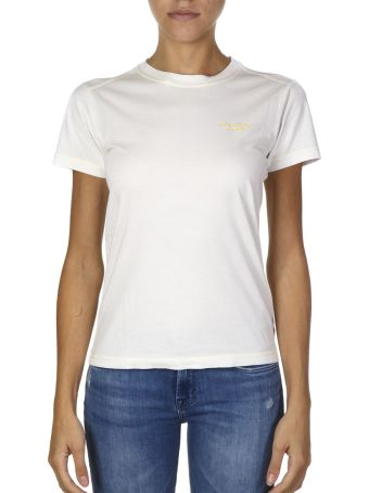 Acne Studios White Cotton T-shirt With Embroidered Logo