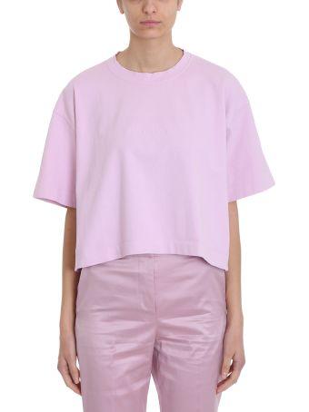 Acne Studios Pink Cotton T-shirt 28 Cylea Emboss