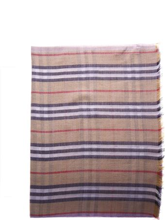 Burberry Two Color Tartan Cotton Scarf
