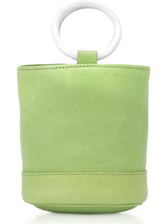 Simon Miller Lime Leather 15 Cm Bonsai Bag
