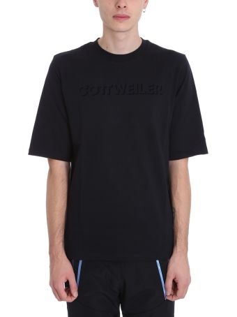 Cottweiler Logo Black Cotton T-shirt