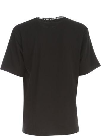 Victoria Beckham Logo Rib T-shirt