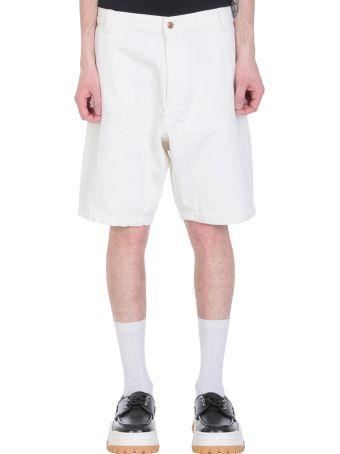 GMBH White Denim Shorts