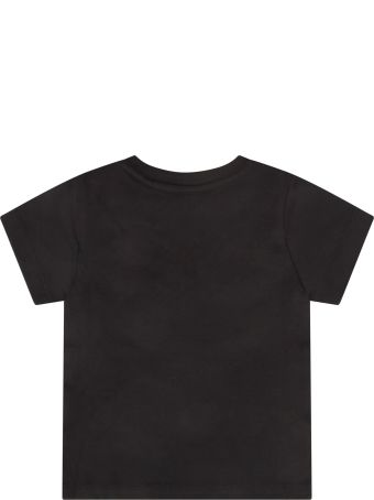 Givenchy Black T-shirt For Babykids With Logo